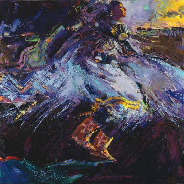 Shawl Dancer Dark Art | robertorduno