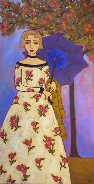 Rose Dress & Parasol Art | Fountainhead Gallery