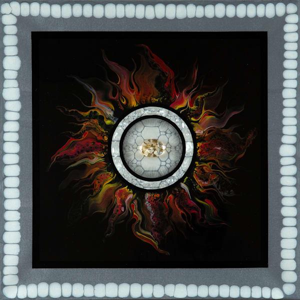 "Fire Element ""Sun Series 1"" Art | Breathe Art Paintings"