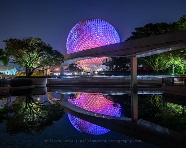Reflections of Spaceship Earth - EPCOT Wall Mural | William Drew Photography