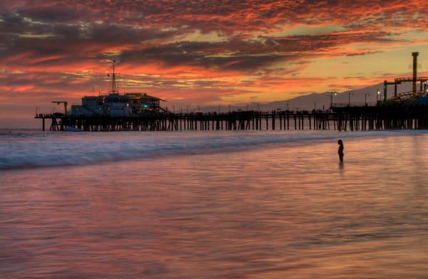 Gorgeous sunset in Santa Monica photo.