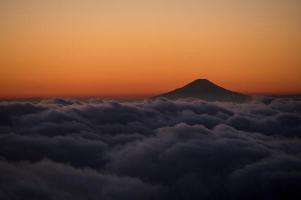 Stunning sunset on Mt.Fuji.