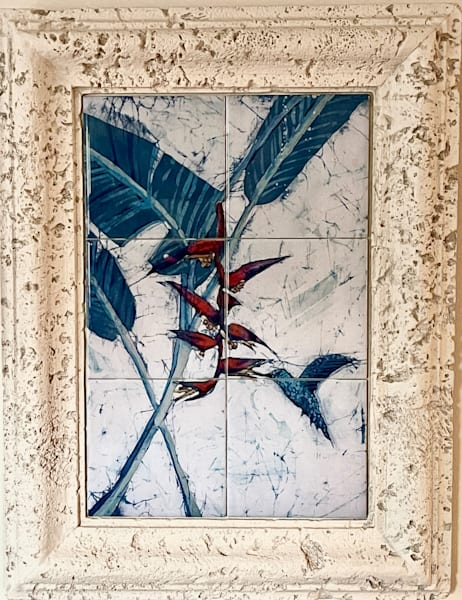 Heliconia And Hummingbird Art | M.C. Gill Tropical Art at the Funky Flamingo Studio