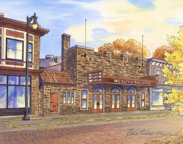Wealthy Theatre, Grand Rapids, Michigan Art | Leisa Collins Art