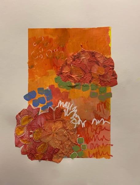Orange Hydrangeas Art   Julie Brown Art