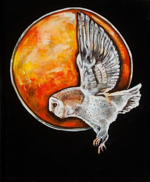 Owl Moon, Acrylic Painting Art | Sarah E. McCord- Metaphysical Portraitist