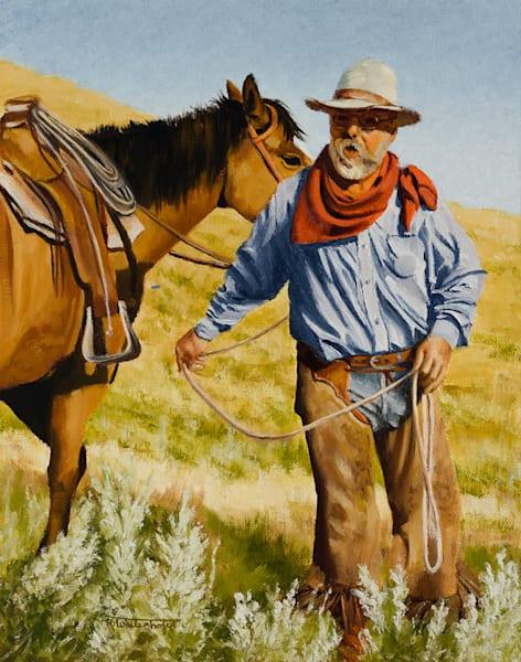 """Raymond Wattenhofer Oil Painting Art """"Giving Orders"""""""
