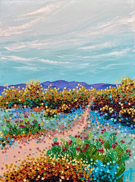Candy Cacti   Original Oil Painting Art   Tessa Nicole Art