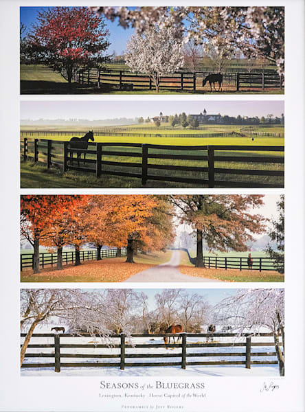 Ky: Seasons Of The Bluegrass Lithograph | Jeff Rogers Photography, Inc.