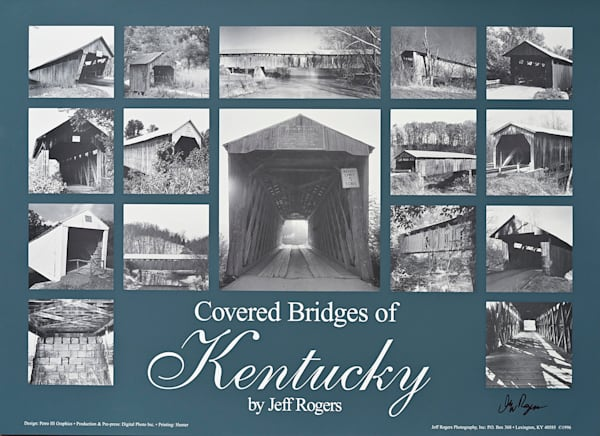 Covered Bridges Of Kentucky Poster   Jeff Rogers Photography, Inc.