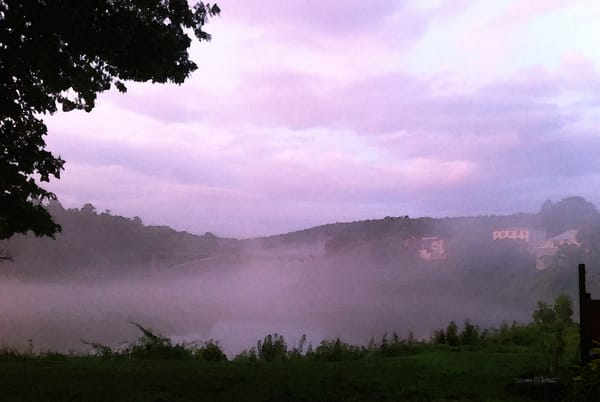 Twilight Pastel Myst Narrowsburg Bridge