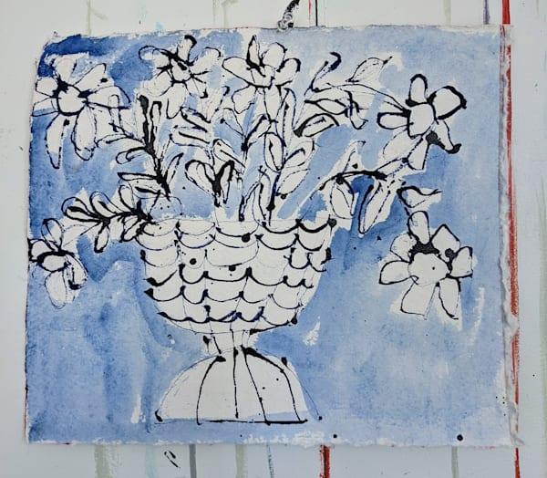 Blue Floral 1 Art | staciswider
