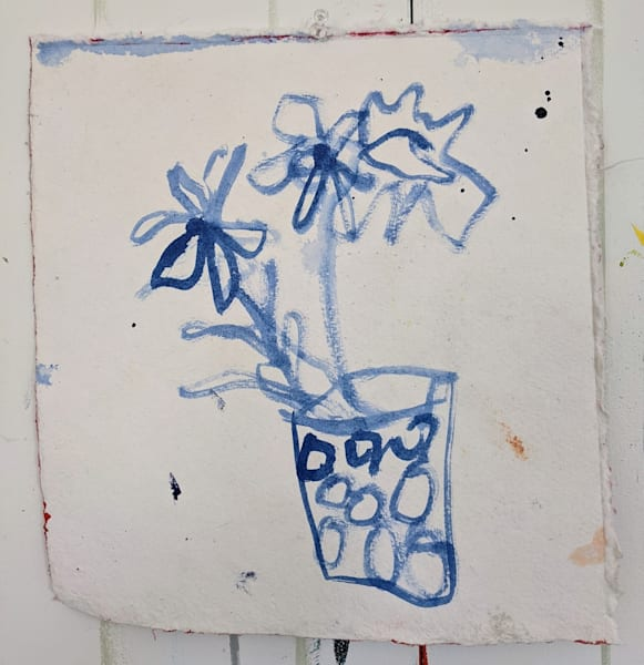 Blue Floral 4 Art | staciswider