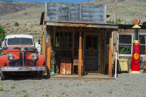 Truck At Midas Gas Station Photography Art | Great Wildlife Photos, LLC