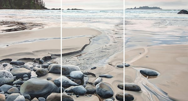 Fusion, 60x108 triptych, inspired by Florencia Bay in Ucluelet, BC