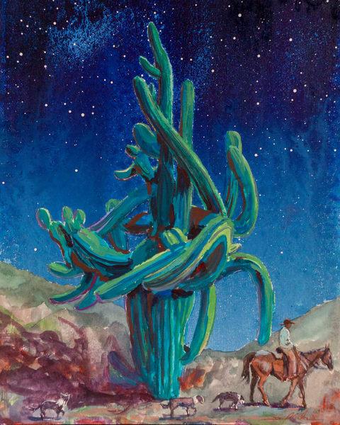 Figures Under The Full Moon  Art | Danielsartwork