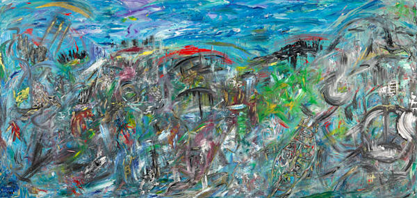 The Notes of the City   Abstract Art   JD Shultz Art