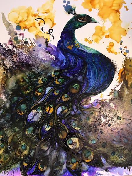 Peacock Ii Art | Art With Judy Ann
