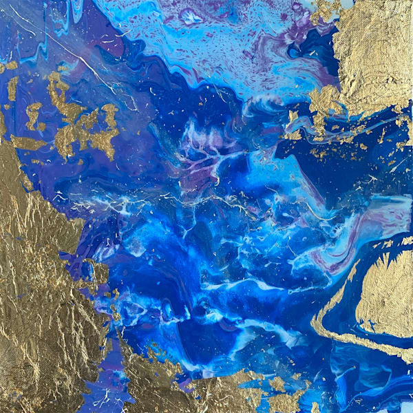 universe, galaxy, gold, gold-foil, resin,