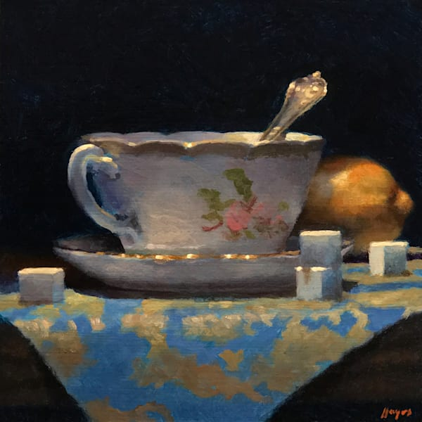 Teacup, Lemon, Sugar Cubes Art | Jeff Hayes Fine Arts
