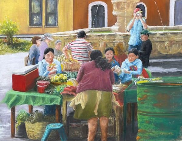 Guatamala Market Art | Kurt A. Weiser Fine Art