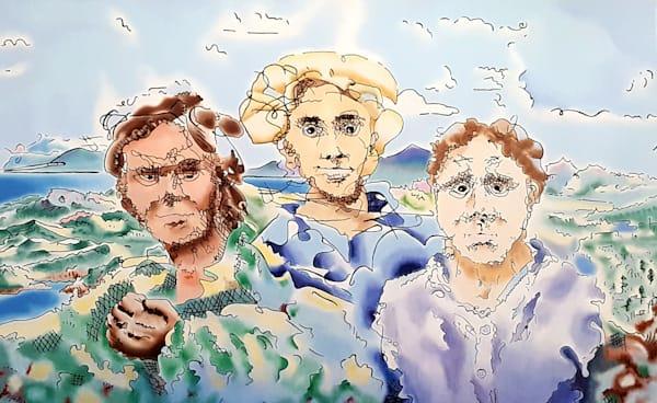 Three Men - Original Oil Painting