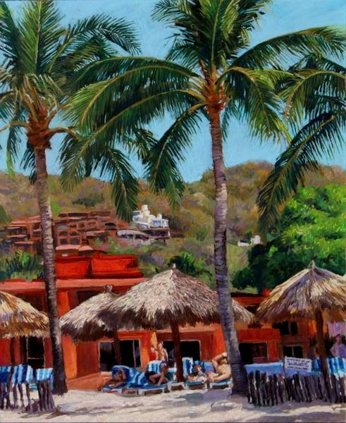 Villa Mexicana, Zihuatanejo, Mexico Art | Waif Mullins Art