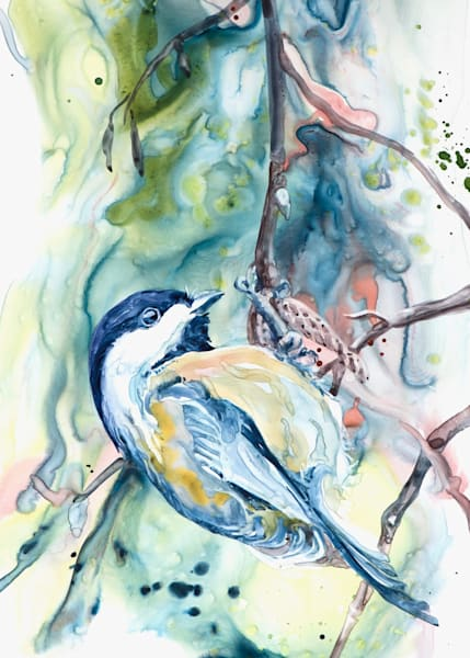 Chickadee Art Card