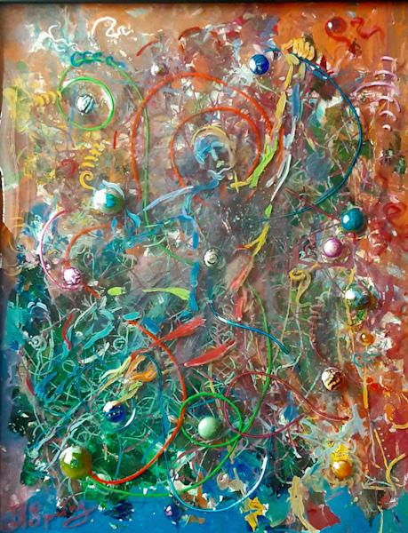 Breaking out original resin painting