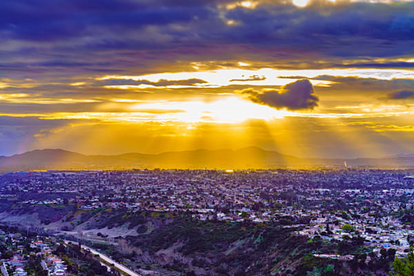 Golden Sunray Sunrise At Mount Soledad Fine Art Print Art | McClean Photography