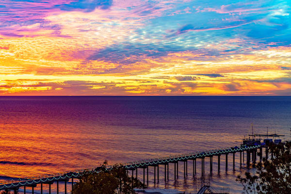 Scripps Pier Christmas Eve Two Sunset Fine Art Print Art | McClean Photography