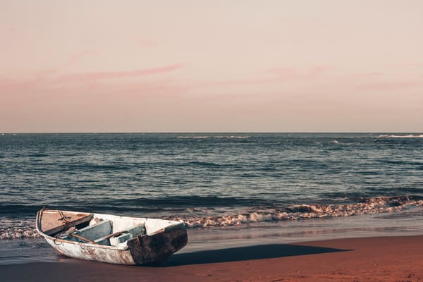 Fishing Boat At Sunset Photography Art | Nathan Larson Photography
