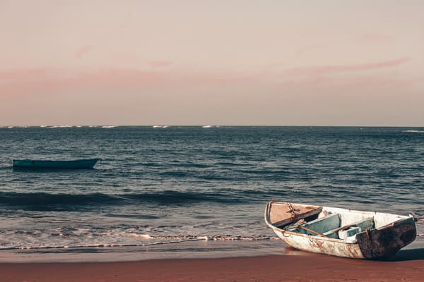 Fishing Boats On Dominican Coast Photography Art | Nathan Larson Photography
