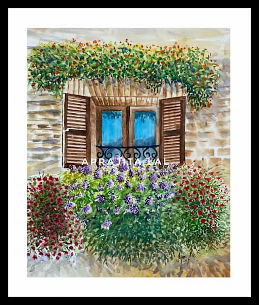 """""""An Open Window"""" in Watercolors by Aprajita Lal (Original 14X11)"""