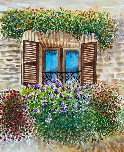 """""""An Open Window"""" in watercolors by Aprajita Lal"""