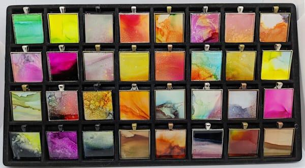 "Large Bezels With 23"" Matching Chain Art | Barbara Bell Fine Art"