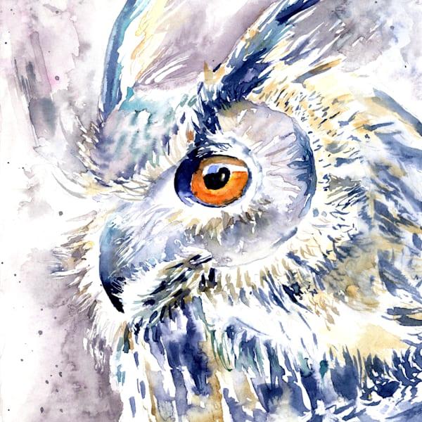 Wise Watcher  Art | Machalarts Watercolor Studio