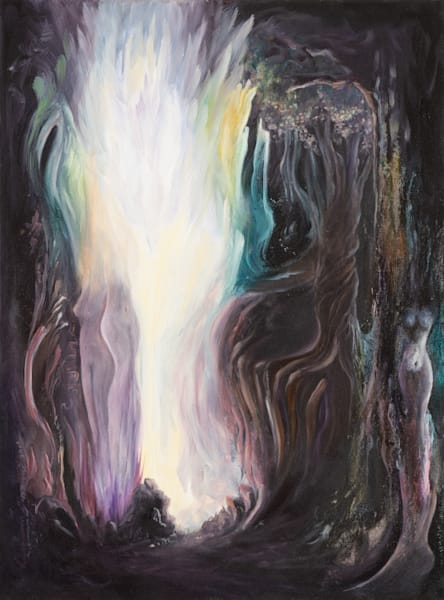 Vulnerable   #2 Of 100   The Journey Of 100 Painting Series Art | Valerieann Giovanni - Fine Art