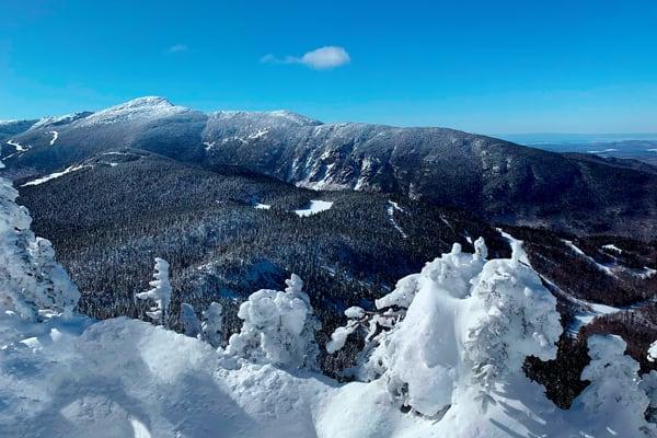 Mt Mansfield Vt Blue Sky Day Art   Jim Eaton Productions