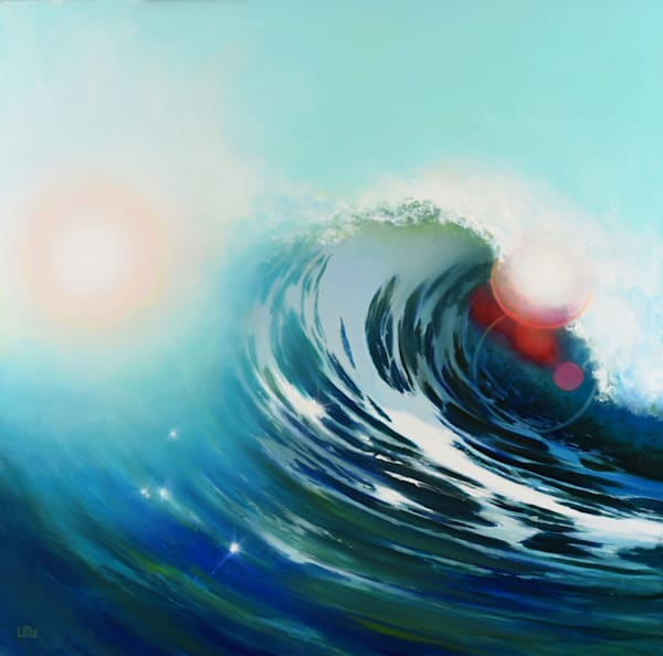 Crest wave painting by Ed Little