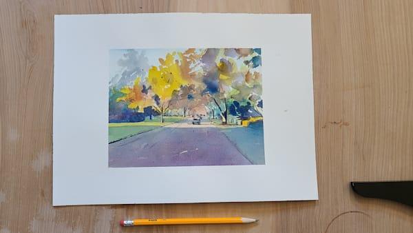 Kc Ward Parkway Fall 6x8 | Steven Dragan Fine Art