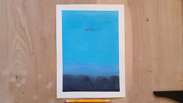 Blue Flight Sky 1   11x15 | Steven Dragan Fine Art
