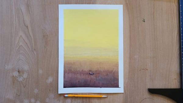 Yellow Flight Sky   11x15 | Steven Dragan Fine Art