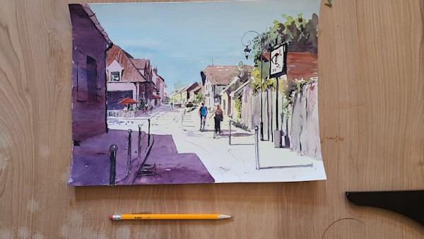 French Village 11x15 | Steven Dragan Fine Art