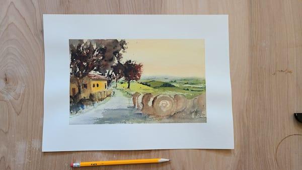 Italy Farmroad 7x10 | Steven Dragan Fine Art