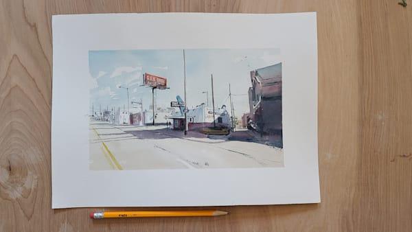 Town Topic 6x10 | Steven Dragan Fine Art