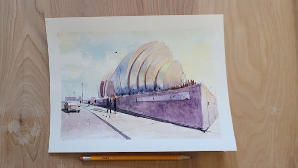 Kc Kauffman Center   8x10 | Steven Dragan Fine Art