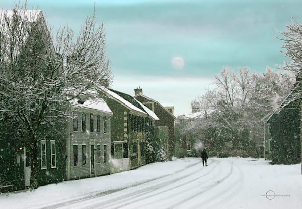 Snowfall on Franklin Street