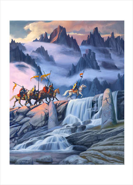"""The Marches Of Mithrim  5.5"""" X 7"""" And 8"""" X 10"""" Signed Print 