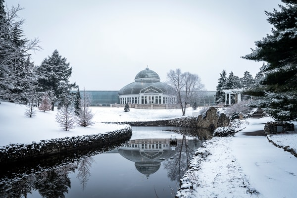 Conservatory Winter Reflections 2 Photography Art | William Drew Photography